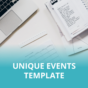 Unique Events Template